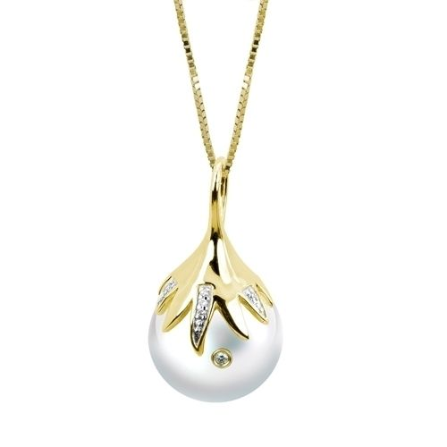 "Windsor Pearl 14K Yellow Gold 18"" Pendant"