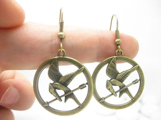 Hunger Games Inspired Jewellery mockingjay earrings katniss