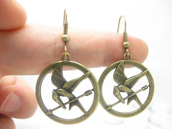Hunger Games Inspired Jewellery mockingjay earrings katniss