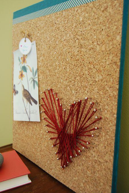 string art corkboard