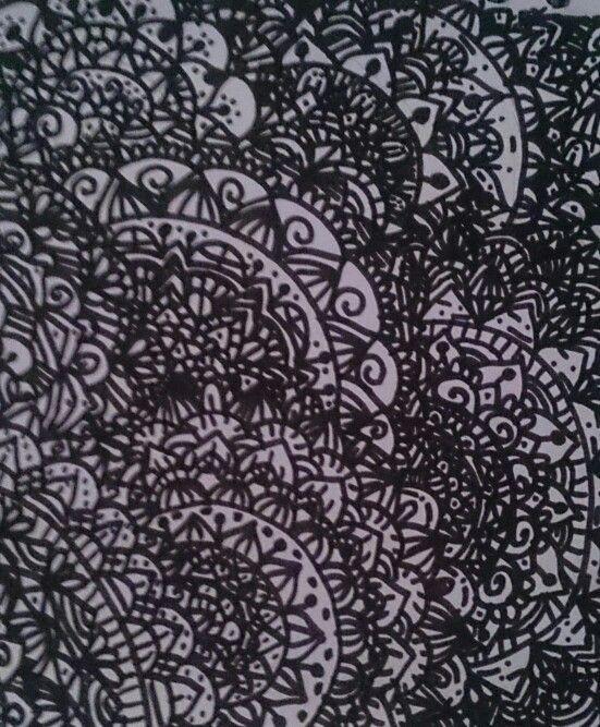 Zentagle Art en blanco y negro.