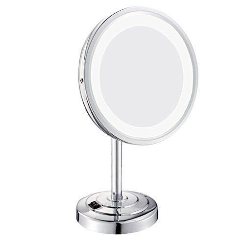 Ysayc Led Illuminated Makeup Mirror Tabletop Swivel Lighted Beauty 180 Free Rotating Desktop Horizontally Vanity Mirror Si Makeup Mirror Mirror Vanity Mirror
