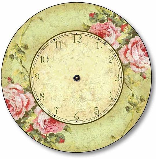 .reloj con rosas