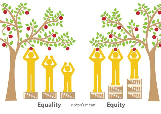 Equality doesn't mean Equity