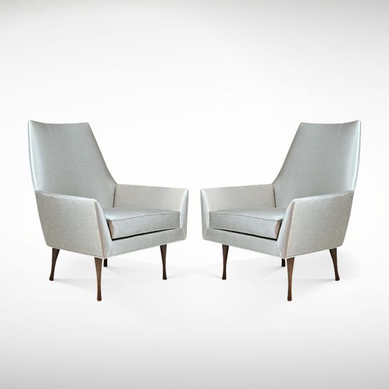 Pair of Symmetric Lounge Chairs by Paul McCobb for Widdicomb | From a unique collection of antique and modern lounge chairs at www.1stdibs.com/...