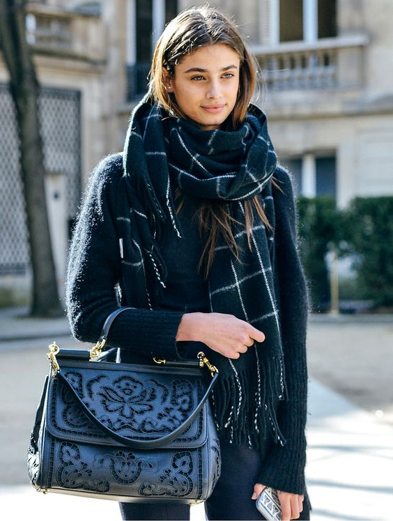 The Front Row View: Outfit Inspiration: The Oversized Scarf