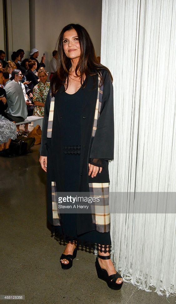 EDUN founder Ali Hewson attends Edun front row during Spring 2016 New York Fashion Week at Spring Studios on September 13, 2015 in New York City.