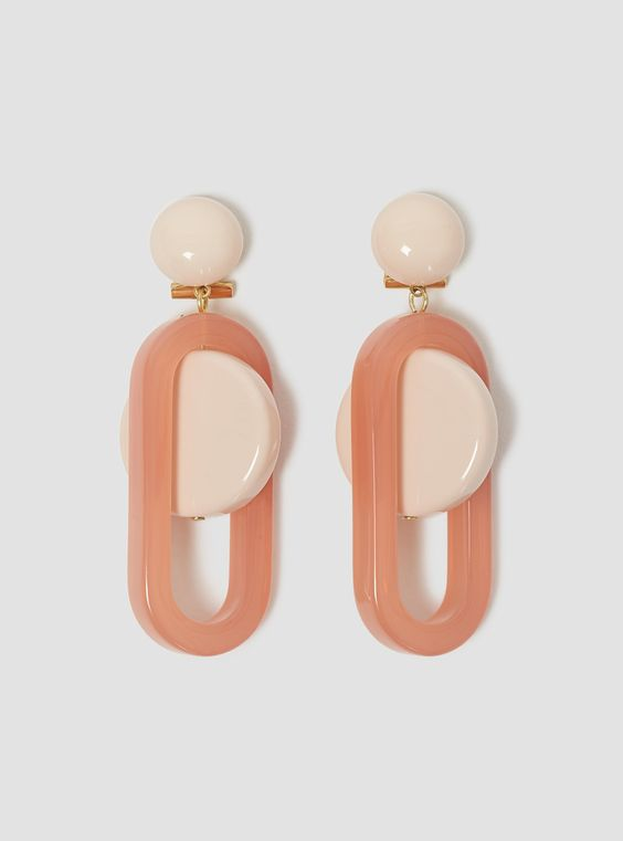 Lohr Earrings Mauve Pink