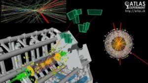 Teilchenphysik: Haben LHC-Forscher ein neues Elementarteilchen entdeckt? - Ein neues Elementarteilchen, eine neue Sensation: Forscher am Large Hadron Collider (LHC) haben möglicherweise ein neues Partikel entdeckt. Es gibt noch wenig Daten, aber die Aufregung ist bereits groß.  Das Teilchen ist elektrisch neutral und vier Mal so schwer wie das Top-Quark, das bislang schwerste Elementarteilchen. Zerfallen soll es in Photonenpaare