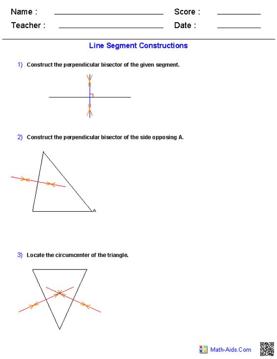 Printables Construction Math Worksheets construction and worksheets on pinterest perpendicular bisector constructions worksheets