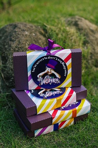 Scott's Willy Wonka Themed Party – Invites