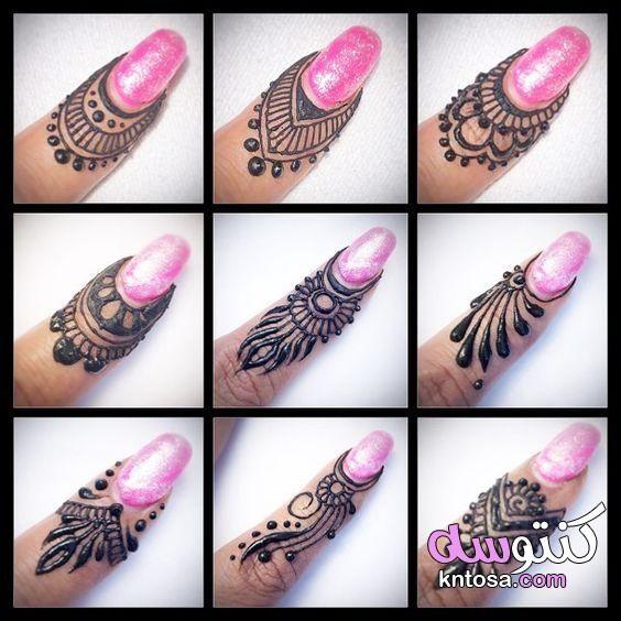 ابسط نقش الحناء للاصابع Finger Henna Designs Henna Ankle Henna Designs Hand
