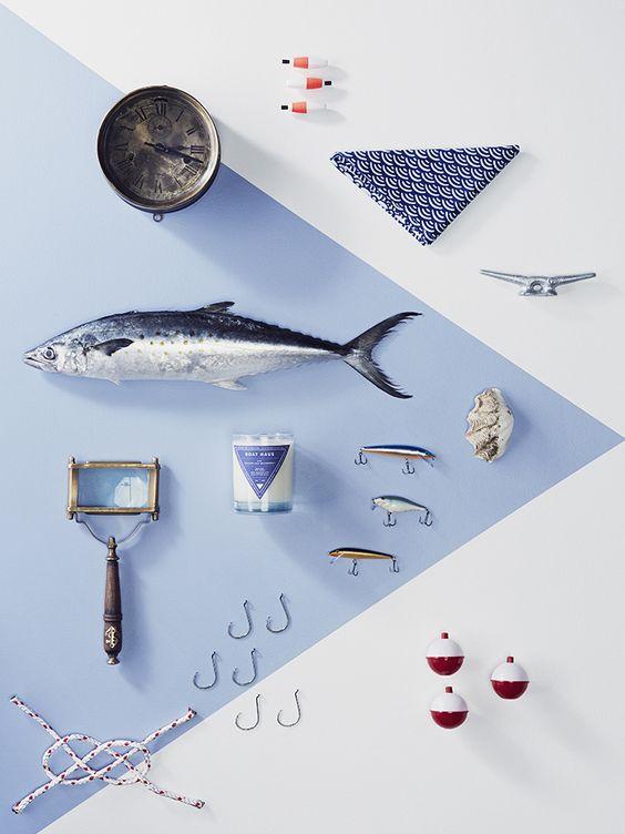 Stitch Design Co., blue fish, photography set, styling
