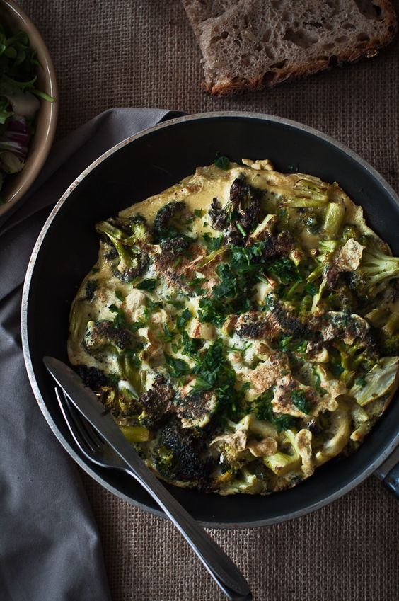 Roasted Broccoli Frittata
