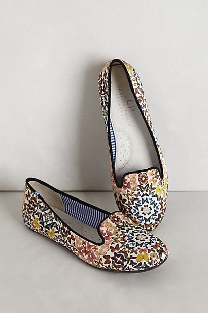Get.In.My.Closet! you beautiful shoes you!! Silk Mariposa Loafers #anthropologie #anthrofave