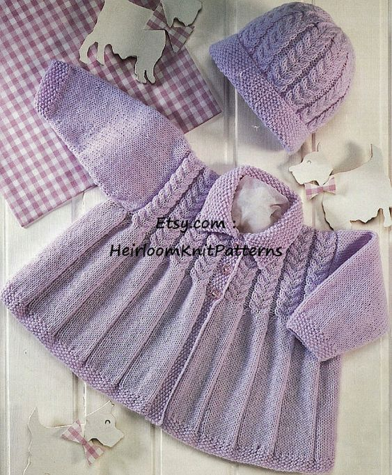 Vintage Knitting Patterns Baby Hats : Moss stitch, Cable and Stitches on Pinterest