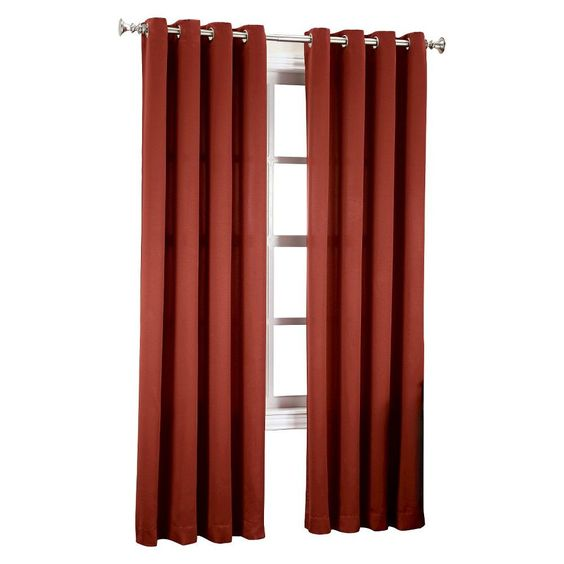 "Seymour Darkening Grommet Curtain Panel Paprika (Red) (54""x95"") Sun Zero"