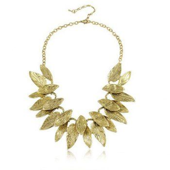 Cheap Wholesale Stylish Leaf Pendant Decorated Necklace (GOLD) At Price 8.79 - DressLily.com