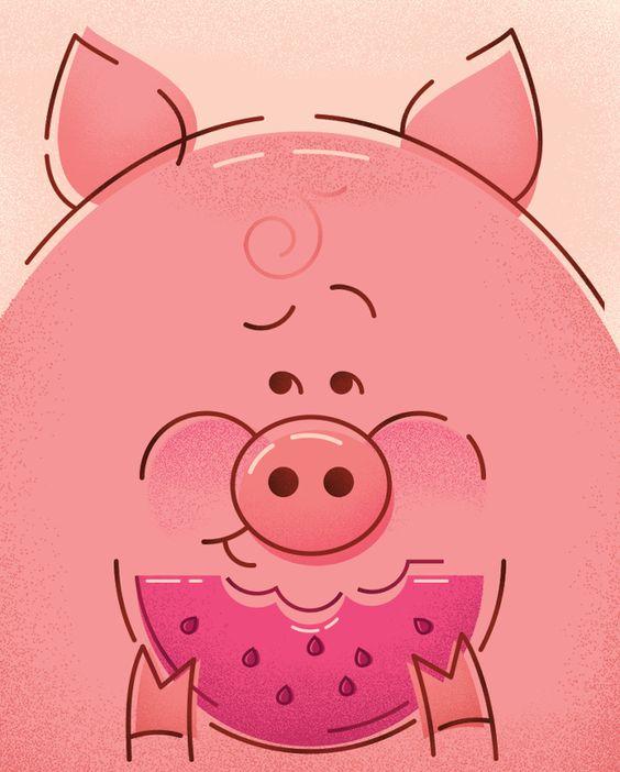 Pig Poster - Justyna Szczepankiewicz