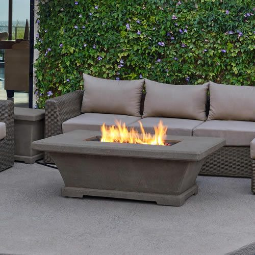 Home Fireplaces Oudoor Fireplaces Real Flame Monaco Low Height Rectangle Fire Table In Glacier Gray 11704lp Tglg Gas Firepit Outdoor Fire Pit Fire Table