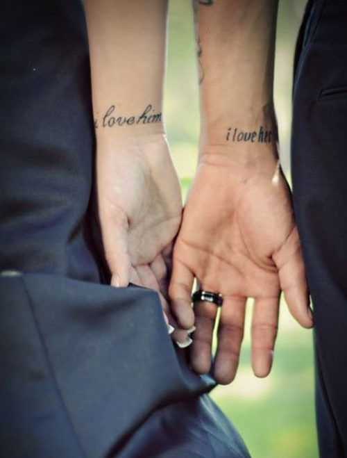 matching tattoos.. love it. how sweet