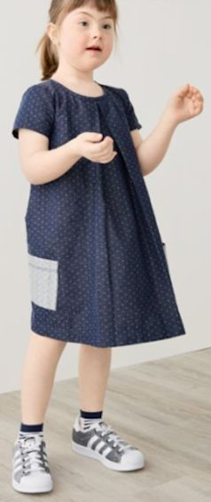 adorable pin dot shift dress with Adidas superstar sneakers