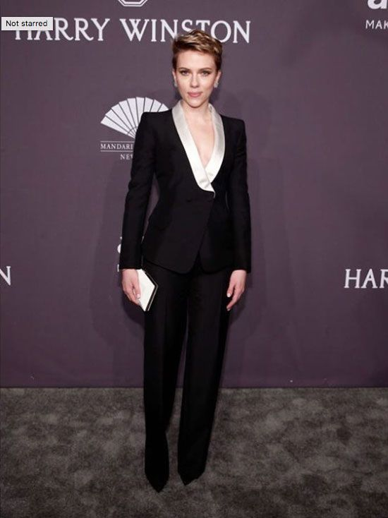 Solange Knowles, Zoe Kravitz, and More are Best Dressed This Week: From a white gown to a red puffy sleeping-bag thingie, these women are our best dressed picks.----Scarlett Johansson in Atelier Versace pantsuit with a ivory trim. | Coveteur.com