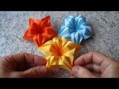 One-Piece Origami Magic Rose Cube - YouTube | 177x236