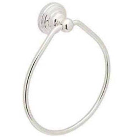 Rohl Perrin and Rowe 6 inch Towel Ring, Available in Various Colors, Silver