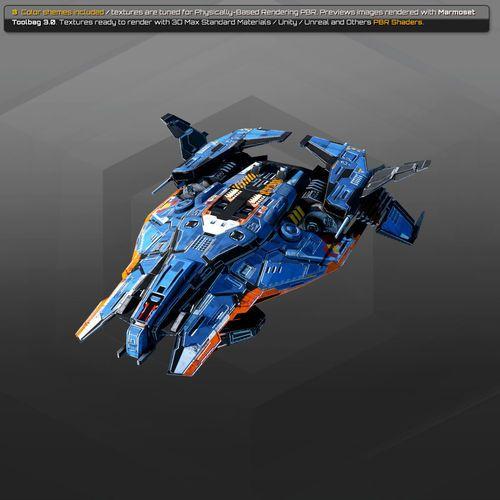 Spaceships Vol 14 3d Model Max Obj Mtl Fbx Tga 29 3d Model