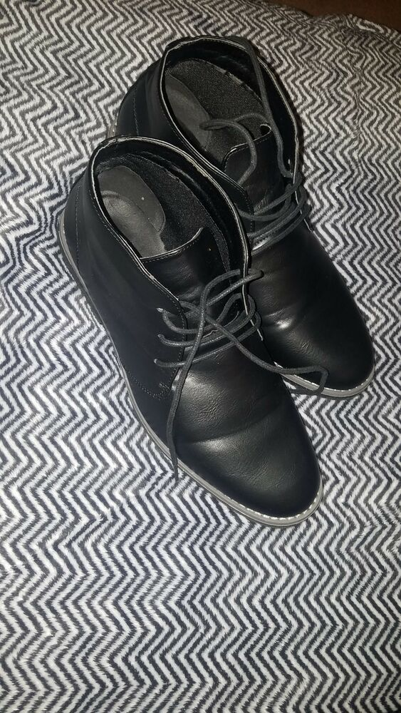 Mens Stallion Faux Leather Fashion Lace Up Combat Chukka Chelsea Ankle Boot Size