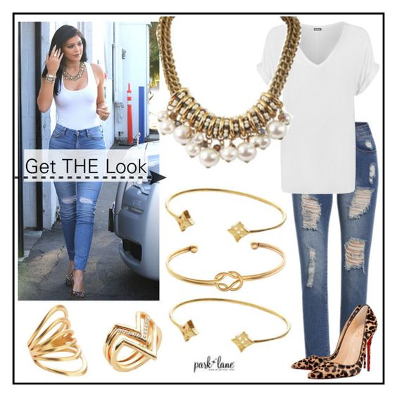 """""""Get The Look"""" by parklanejewelry on Polyvore featuring 7 For All Mankind, WearAll, Christian Louboutin, GetTheLook, parklanejewelry and parklanestyle"""