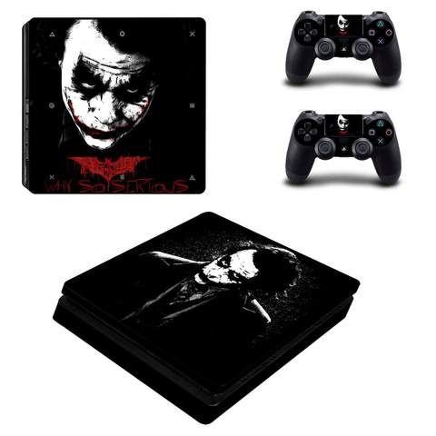 Heath Ledger The Joker Cool Black Portrait Ps4 Slim Skin With