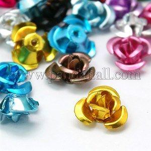 Aluminum Rose FlowerFALUM-AF12mm-M-1
