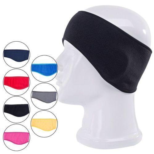 2PCS Winter Mens Womens Fleece Earband Stretchy Headband Earmuffs Ear Warmers