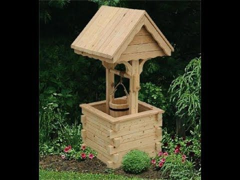 Homemade Wooden Well For Garden Wishing Well Wishing Well Plans Garden Projects