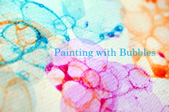 Ramblings From Utopia: DIY: Painting with Bubbles - This would be a fun thing to do when my grandkids are here!