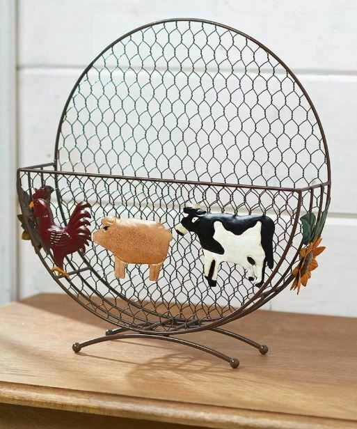 Farming Farm Animals Plate Holder Country Kitchen Home Decor Plate Rack Storage Country Kitchen Decor Paper Plate Holders Country Kitchen