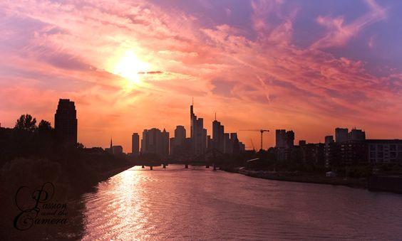 frankfurt skyline by passionandthecamera