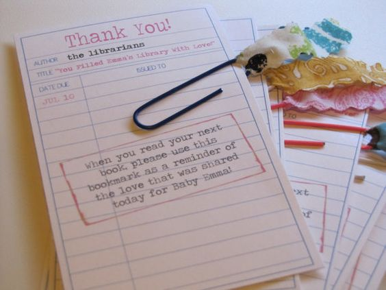 Party Favor for Build-a-Library baby shower