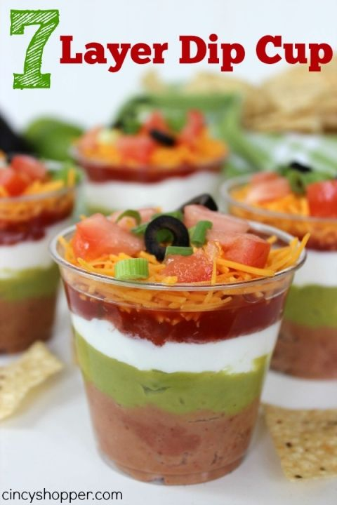 7 Layer Dip Cup Recipe | CincyShopper