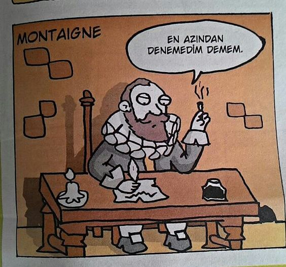 Montaigne - penguen - ayberk şentürk: