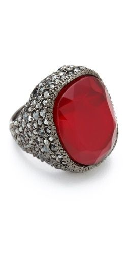 Kenneth Jay Lane Red Opal Cocktail Ring $84 #christmas #wishlist #giftguide