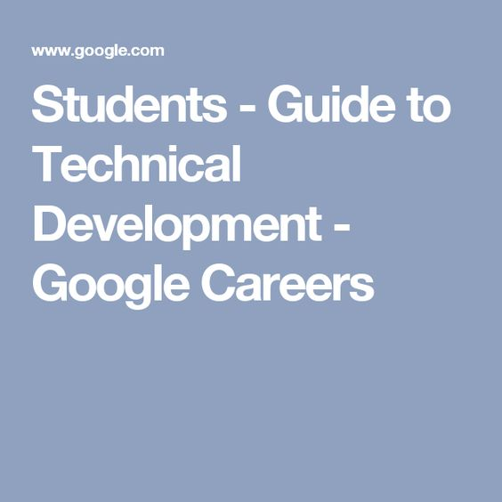 Technical science careers