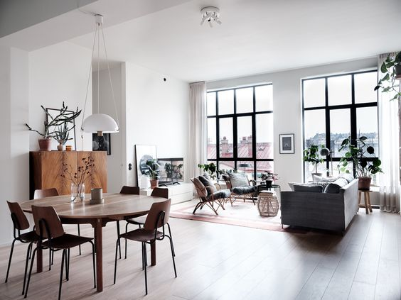 The Nordroom - A Light Scandinavian Apartment With Floor To Ceiling Windows