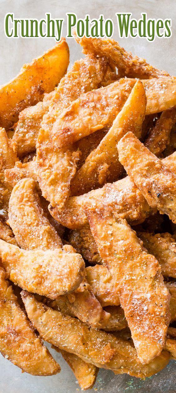 Crunchy Potato Wedges Crunchy Potatoes Recipes Food Dishes