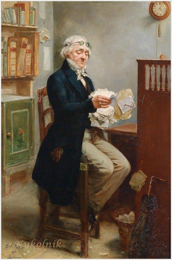 Albert W. Holden (British, 1848 - 1932) «The Notary»