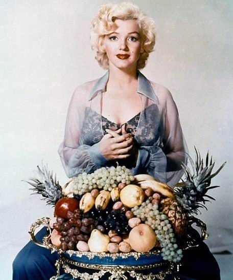 Marilyn with fruit