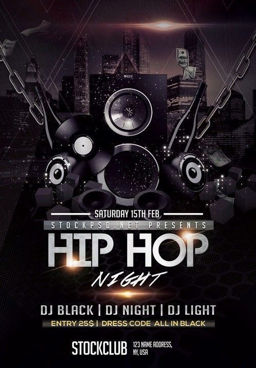 50 Hip Hop Flyer Templates In 2020 Free Psd Flyer Templates Psd