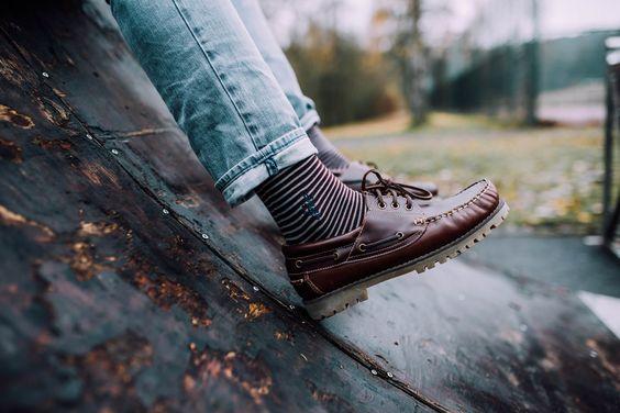 Prvke Streetstyle / Lifestyle Socks. The Stripes - Red/Grey. Be bold.